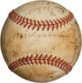Autographs:Baseballs, 1940 Cincinnati Reds Team Signed Baseball....