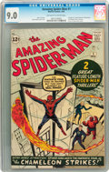 Silver Age (1956-1969):Superhero, The Amazing Spider-Man #1 (Marvel, 1963) CGC VF/NM 9.0 Off-white to white pages....