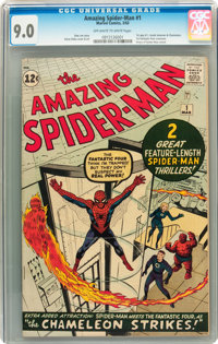 The Amazing Spider-Man #1 (Marvel, 1963) CGC VF/NM 9.0 Off-white to white pages