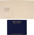 Music Memorabilia:Memorabilia, The Doors - Jim Morrison The Lords: Notes on Vision RareLimited Edition Publication....