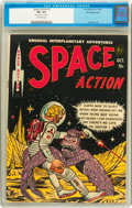 Golden Age (1938-1955):Science Fiction, Space Action #3 White Mountain pedigree (Ace, 1952) CGC VF+ 8.5Off-white pages....