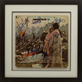 Music Memorabilia:Autographs and Signed Items, Woodstock Soundtrack Album Signed by Various Artists....