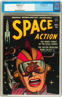 Space Action #2 White Mountain pedigree (Ace, 1952) CGC VF/NM 9.0 Off-white pages