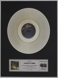 Music Memorabilia:Awards, Stevie Ray Vaughan and Double Trouble Couldn't Stand theWeather CRIA Platinum Album Award....
