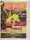 Music Memorabilia:Autographs and Signed Items, Sex Pistols Band-Signed NME Issue with Poster.... (Total: 2Items)