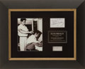 Music Memorabilia:Memorabilia, Elvis Presley Hair Display....