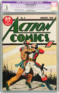 Golden Age (1938-1955):Superhero, Action Comics #8 (DC, 1939) CGC Apparent PR 0.5 Moderate (P) Incomplete Off-white to white pages....