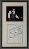 Music Memorabilia:Autographs and Signed Items, Stevie Ray Vaughan Autograph Display. ...