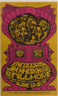 Music Memorabilia:Posters, The Doors and Eric Burden & The Animals Fillmore Concert PosterGroup (Bill Graham, 1967-68).... (Total: 2 Items)