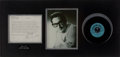 "Music Memorabilia:Recordings, Buddy Holly's Personal Copy of ""Words Of Love"" Display (Coral BlueLabel Promo 61852, 1957)...."