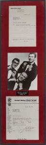 Music Memorabilia:Documents, Buddy Holly The Ed Sullivan Show Performance Documents....
