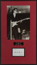 Music Memorabilia:Memorabilia, Buddy Holly Rare Business Cards.... (Total: 2 )