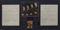 Music Memorabilia:Autographs and Signed Items, The Diamonds Band-Signed Contract....