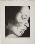 Music Memorabilia:Original Art, Rolling Stones Related - Ron Wood Signed Drawing of Billie Holiday....