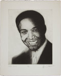 Music Memorabilia:Original Art, Rolling Stones Related - Ron Wood Signed Drawing of Sam Cooke....