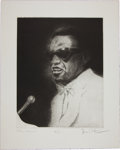 Music Memorabilia:Original Art, Rolling Stones Related - Ron Wood Signed Drawing of Ray Charles....
