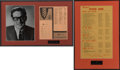 Music Memorabilia:Recordings, Buddy Holly 1958 Hit Charts Displays (1958).... (Total: 2 Items)