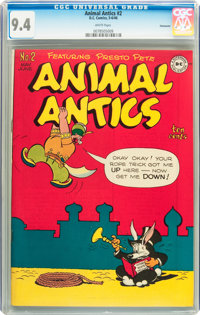 Animal Antics #2 Vancouver pedigree (DC, 1946) CGC NM 9.4 White pages