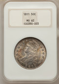Bust Half Dollars, 1811 50C Small 8 MS62 NGC. O-110, R.1....