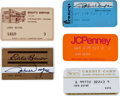 Movie/TV Memorabilia:Memorabilia, Five Credit Cards, 1970s.... (Total: 5 Items)
