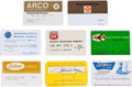 Movie/TV Memorabilia:Memorabilia, Eight Credit Cards, 1970s.... (Total: 8 Items)