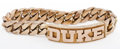 Movie/TV Memorabilia:Memorabilia, A 14K Gold 'Duke' Bracelet, 1969....