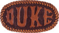 Movie/TV Memorabilia:Memorabilia, A 'Duke' Belt Buckle, 1960s....