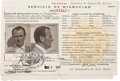 Movie/TV Memorabilia:Memorabilia, A Twice-Signed Signed Mexican Tourist ID Card, 1948....