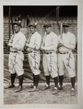 Autographs:Others, 1927 New York Yankees Infield Signed Photograph from The Lou Gehrig Collection, PSA Mint 9....