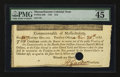 Colonial Notes:Massachusetts, Massachusetts 1781 $16 PMG Choice Extremely Fine 45 EPQ.. ...