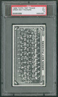 Football Cards:Singles (1960-1969), 1968 Topps Test Teams Green Bay Packers #1 PSA EX 5....