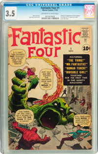 Fantastic Four #1 (Marvel, 1961) CGC VG- 3.5 Off white to white pages