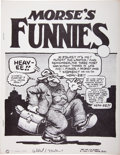 Bronze Age (1970-1979):Alternative/Underground, Morse's Funnies #1 First Version with Signed Certificate of Authenticity (Albert Morse, 1974) Condition: VF/NM....