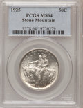 Commemorative Silver: , 1925 50C Stone Mountain MS64 PCGS. PCGS Population (3504/2856). NGCCensus: (2619/2859). Mintage: 1,314,709. Numismedia Wsl...
