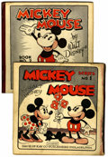 Platinum Age (1897-1937):Miscellaneous, Mickey Mouse Comic #1 and 2 Group (David McKay Publications,1931-32)....