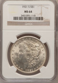 Morgan Dollars: , 1921-S $1 MS64 NGC. NGC Census: (4587/750). PCGS Population(3177/747). Mintage: 21,695,000. Numismedia Wsl. Price for prob...