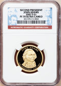 Proof Presidential Dollars, 2007-S $1 Second President John Adams PR70 Ultra Cameo NGC. . NGCCensus: (0). PCGS Population (165). Numismedia Wsl. Pric...