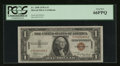Small Size:World War II Emergency Notes, Fr. 2300 $1 1935A Hawaii Silver Certificate. PCGS Gem New 66PPQ.. ...