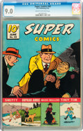 Golden Age (1938-1955):Miscellaneous, Super Comics #49 (Dell, 1942) CGC VF/NM 9.0 Cream to off-white pages. ...