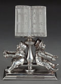 Silver Holloware, American:Napkin Rings, SIMPSON, HALL, MILLER SILVER-PLATED FIGURAL NAPKIN RING . Simpson,Hall, Miller & Co., Wallingford, Connecticut, circa 1875...