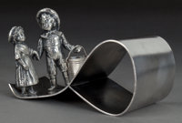A TUFTS SILVER-PLATED FIGURAL NAPKIN RING James W. Tufts, Boston, Massachusetts, circa 1875 Marks: JAMES W