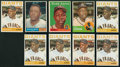 Baseball Cards:Lots, 1958 - 1964 Topps Hank Aaron and Willie Mays Collection (9). ...