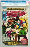 Silver Age (1956-1969):Superhero, The Amazing Spider-Man Annual #6 Twin Cities pedigree (Marvel, 1969) CGC VF 8.0 White pages....