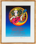 Music Memorabilia:Posters, Jerry Garcia/Country Joe/The Dinosaurs Limited EditionArtists-Signed Poster 52/200 (A.R.T.,1989)....