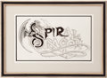 Music Memorabilia:Original Art, Rick Griffin Spiral Dragon Original Art....