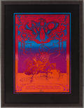 Music Memorabilia:Posters, The Who Hollywood Palladium Concert Poster Signed by Rick Griffin (Magic Circus, 1969)....