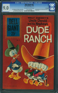 Dell Giant 52 Uncle Donald and His Nephews Dude Ranch - File Copy (Dell, 1961) CGC VF/NM 9.0 Off-white to white pages...