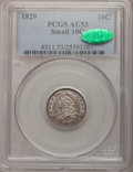 Bust Dimes, 1829 10C Small 10C AU53 PCGS. CAC. PCGS Population (13/155). NGCCensus: (2/214). Mintage: 770,000. Numismedia Wsl. Price f...
