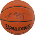 Basketball Collectibles:Balls, Kobe Bryant Signed Leather Game Ball....
