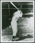 Baseball Collectibles:Photos, Mickey Mantle Signed Photograph - Wearing No. 6!...